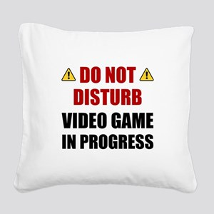 Do Not Disturb Video Game Square Canvas Pillow