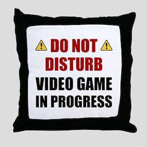 Do Not Disturb Video Game Throw Pillow