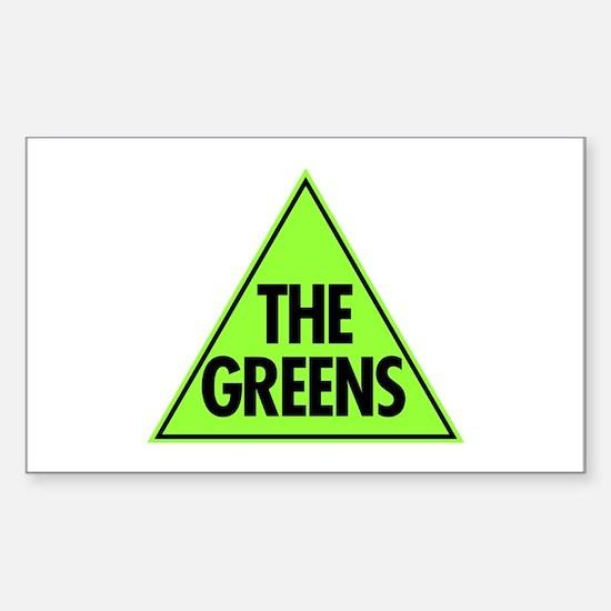 Green Party Logo Sticker (Rectangle)