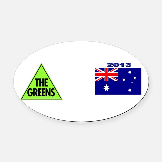 Green Party Logo Oval Car Magnet