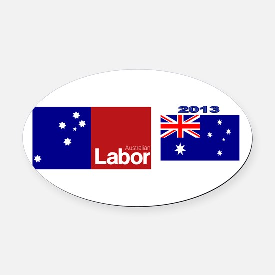 Labor Party Logo Oval Car Magnet