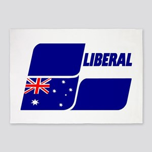 Liberal Party Logo 5'x7'Area Rug