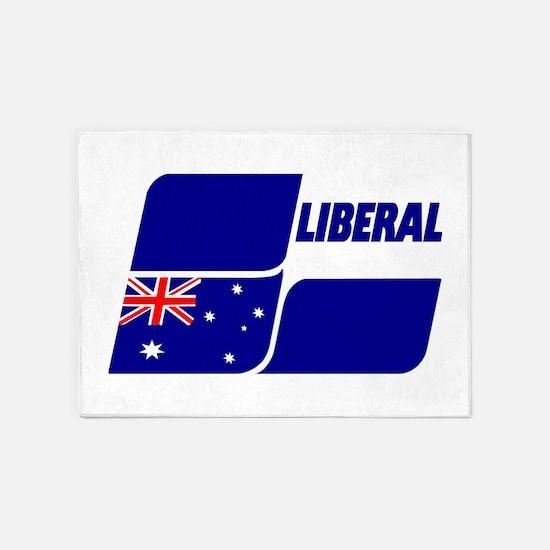 Liberal Party Logo 5'x7'Area Rug