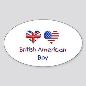 British American Boy Oval Sticker