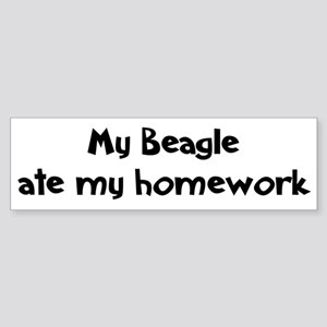 Beagle ate my homework Bumper Sticker