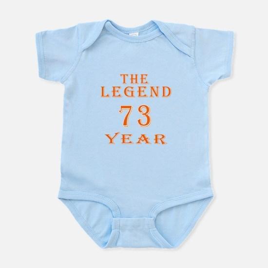 73 year birthday designs Infant Bodysuit