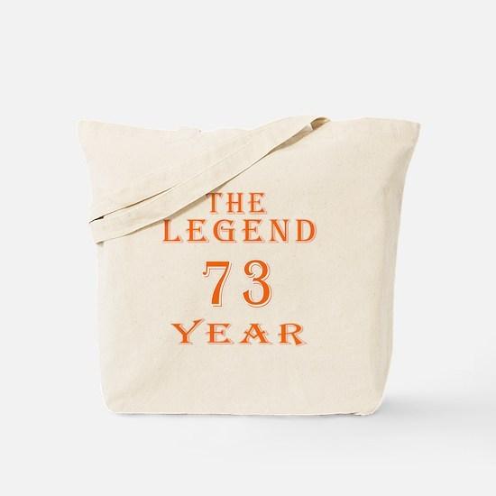 73 year birthday designs Tote Bag