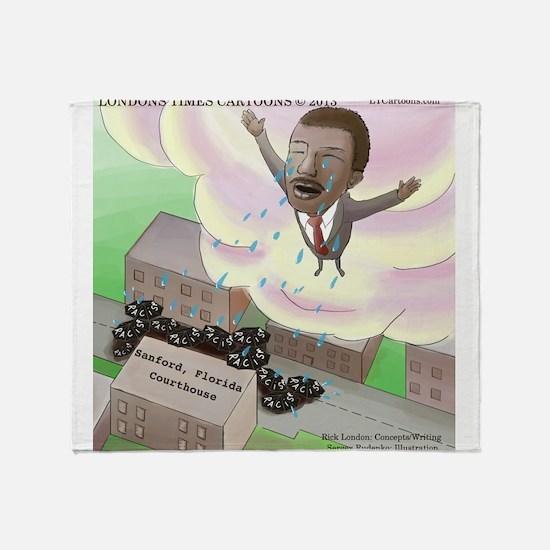 MLK Cries Throw Blanket