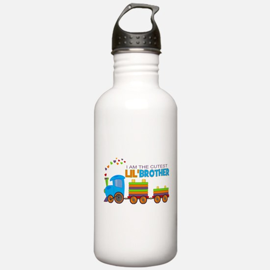 Cutest Lil Brother - Train Water Bottle