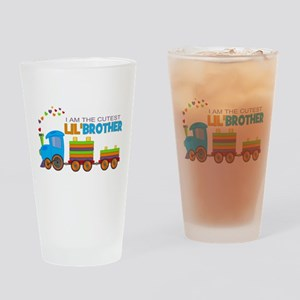Cutest Lil Brother - Train Drinking Glass