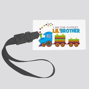 Cutest Lil Brother - Train Large Luggage Tag