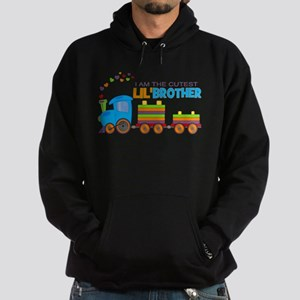 Cutest Lil Brother - Train Hoodie (dark)