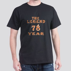 79 year birthday designs Dark T-Shirt
