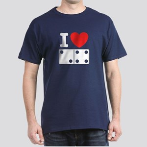 I Love Dominoes Dark T-Shirt