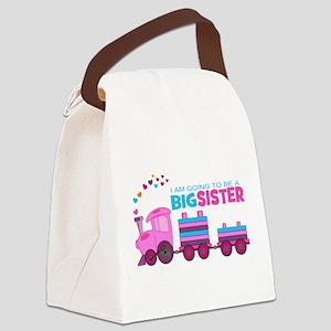 Big Sister - Train Canvas Lunch Bag