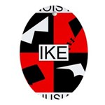 IKE Oval Ornament