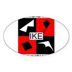 IKE Oval Sticker