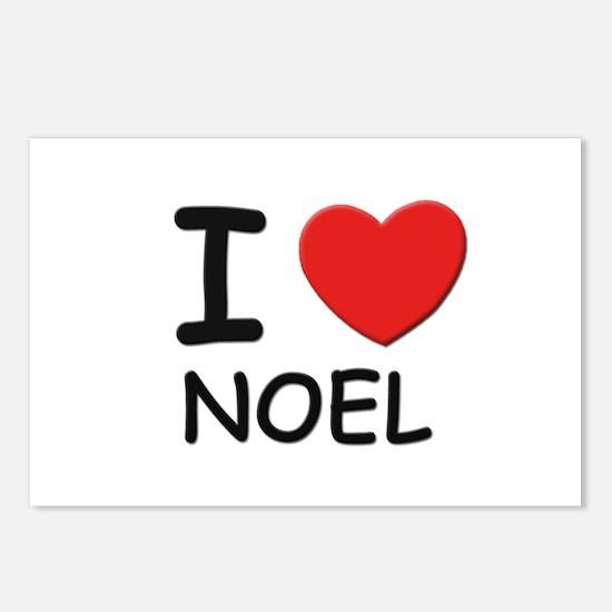 I love noel Postcards (Package of 8)