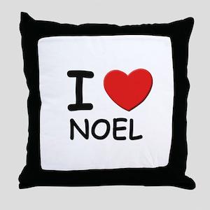 I love noel Throw Pillow