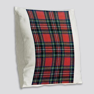 Royal Stewart Tartan Burlap Throw Pillow