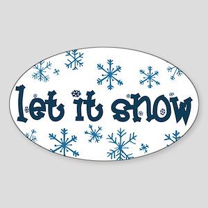 Let it Snow Oval Sticker