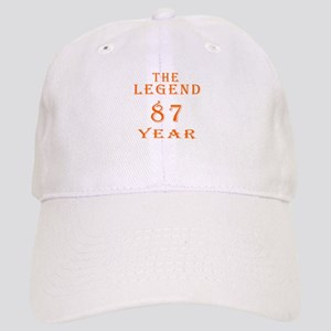 87 year birthday designs Cap