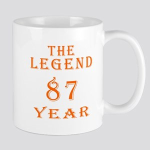 87 year birthday designs Mug