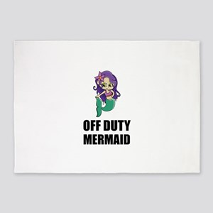 Off Duty Mermaid 5'x7'Area Rug