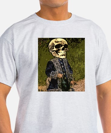 Skull Gal with water can T-Shirt