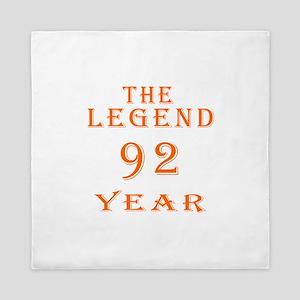 92 year birthday designs Queen Duvet