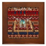 Proud to be Oglala Sioux Framed Tile
