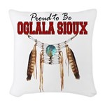 Proud to be Oglala Sioux Woven Throw Pillow