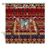 Proud to be Oglala Sioux Shower Curtain