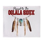 Proud to be Oglala Sioux Throw Blanket
