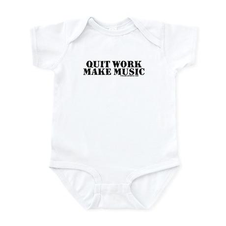 Quit Work, Make Music Infant Bodysuit