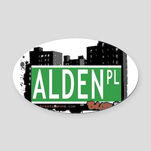 Alden Pl Oval Car Magnet
