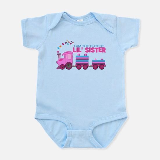 Cutest Lil Sister Train Infant Bodysuit