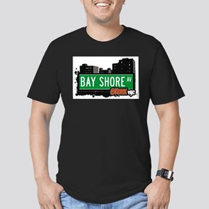 Bay Shore Ave Men's Fitted T-Shirt (dark)