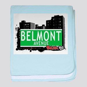 Belmont Ave baby blanket