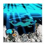 Blue Mermaid Tile Coaster