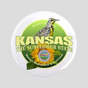 Kansas State Bird & Flower Button