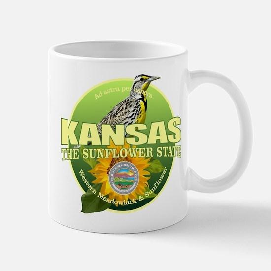 Kansas State Bird & Flower Mugs