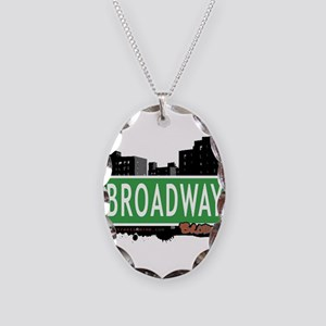 Broadway Necklace Oval Charm
