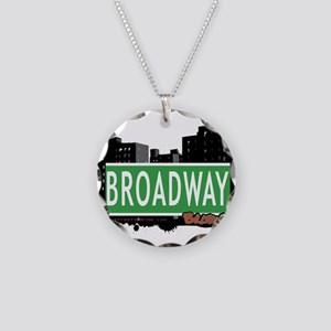 Broadway Necklace Circle Charm
