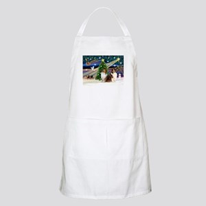 XmasMagic/2 Shelties-S BBQ Apron