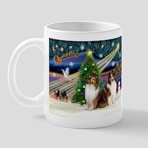 XmasMagic/2 Shelties-S Mug