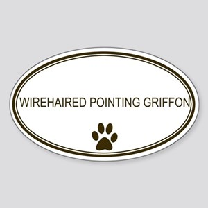 Oval Wirehaired Pointing Grif Oval Sticker