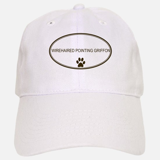 Oval Wirehaired Pointing Grif Baseball Baseball Cap