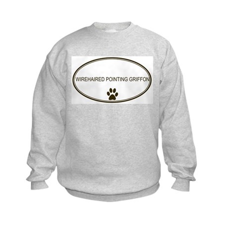 Oval Wirehaired Pointing Grif Kids Sweatshirt