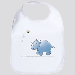 Rhino and Bee Bib